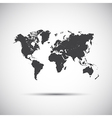 Simple icon map of the world vector image