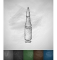gun cartridge icon vector image
