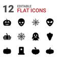 12 halloween icons vector image vector image