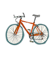 A bicycle is parked vector image vector image