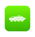 armored personnel carrier icon digital green vector image vector image