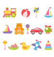 baby colorful toys set vector image vector image