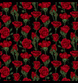 beautiful vintage seamless pattern with roses vector image vector image