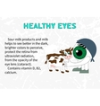 Benefits of dairy products for eyesight vector image vector image