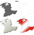 Bern blank detailed outline map set vector image vector image