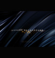 black silk flowing wave luxury trendy background vector image