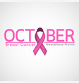 breast cancer awareness month icon vector image