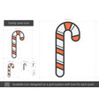 Candy cane line icon