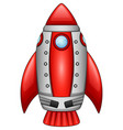 cartoon rocket spaceship isolated on white backgro vector image vector image