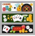 Casino gambling banners or flyers with game vector image vector image