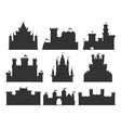 castles silhouettes set vector image vector image