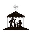 christmas manger symbol vector image vector image