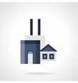 Coal factory flat color icon vector image vector image