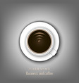 coffee conception metaphor for idea vector image