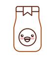 coffee toast bag kawaii character vector image vector image