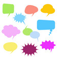 colorful comic speech bubbles set on white vector image