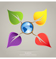 Colorful creative icon design Earth planet and vector image vector image