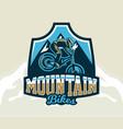colorful logo emblem label club riders perform vector image