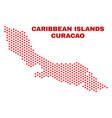 Curacao island map - mosaic of love hearts