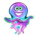 cute smiling jellyfish isolated on white vector image