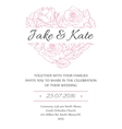delicate wedding invitation card template vector image vector image
