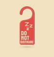 do not disturb door hanger vector image vector image