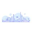 dubai skyline united arab emirates uae city vector image