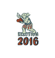 election 2016 republican elephant boxer etching vector image vector image