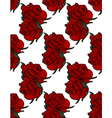 Floral Pattern Rose red background vector image vector image