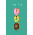 Funny donuts vector image vector image