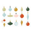 glass multi-colored balls for christmas tree vector image vector image