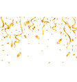 gold confetti celebration carnival ribbons luxury vector image vector image