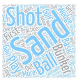 Golf Tips How To Play The Sand Shot text vector image vector image