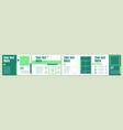 green horizontal presentation slide template vector image