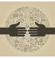 Hand business4 vector image vector image
