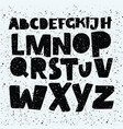 hand drawn comics style font alphabet vector image vector image