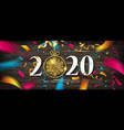 happy new year 2021 design vector image vector image