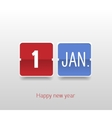 Happy New Year Calendar vector image vector image