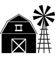 house on white background farm vector image