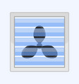 image of a fan behind a glass lattice flat pattern vector image vector image