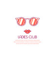 ladies club concept banner vector image