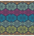 linear detailed ethnic pattern with bright stripes vector image vector image