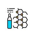 medicine formula ampoules vaccine flat color vector image
