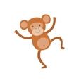 Monkey Stylized Childish Drawing vector image