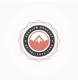 Mountain Hand Drawn Logo Template Design vector image
