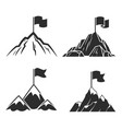mountains with flag symbol success business vector image vector image