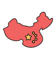 national flag china and chinese land vector image