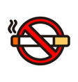no smoking icon isolated on white background from vector image