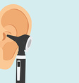 Otoscope and ear vector image