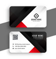 Red and black business card template design